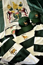 Traditional Green and White Rugby select your own emblem