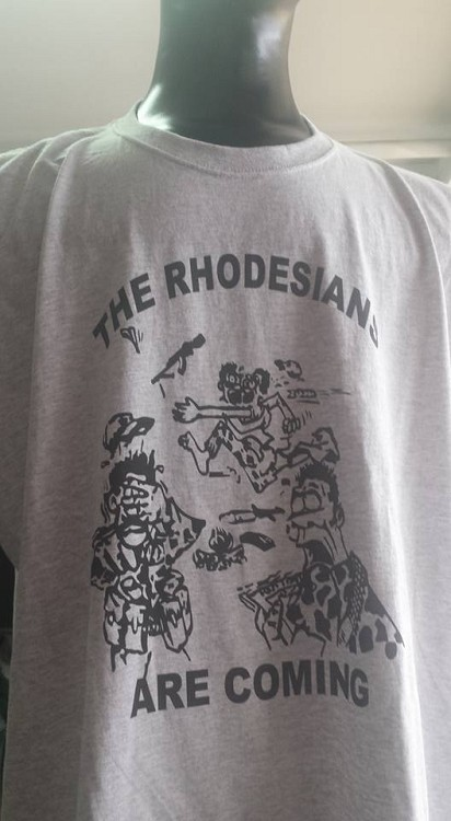 The Rhodesians are coming shirts select long or short sleeve along with colour