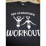 My quarantine workout T-shirt